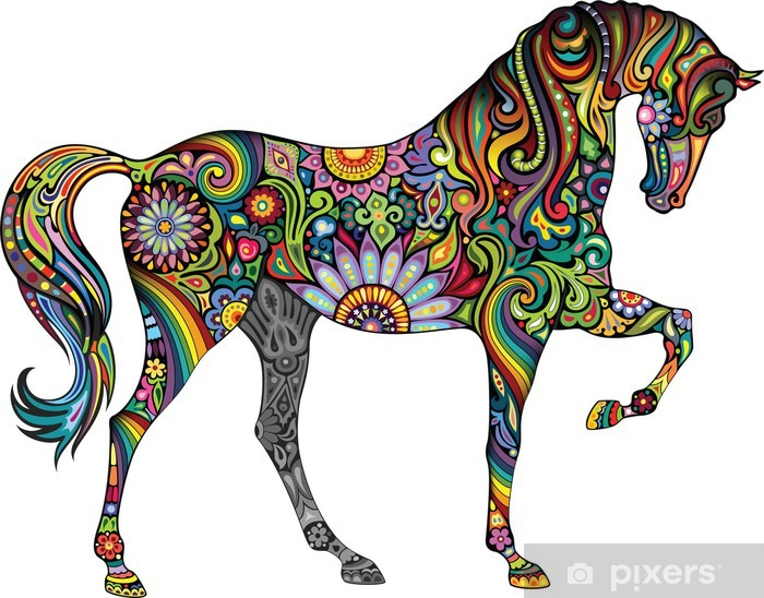 Fototapeta winylowa Wesoły koń - Naklejki na ścianę
