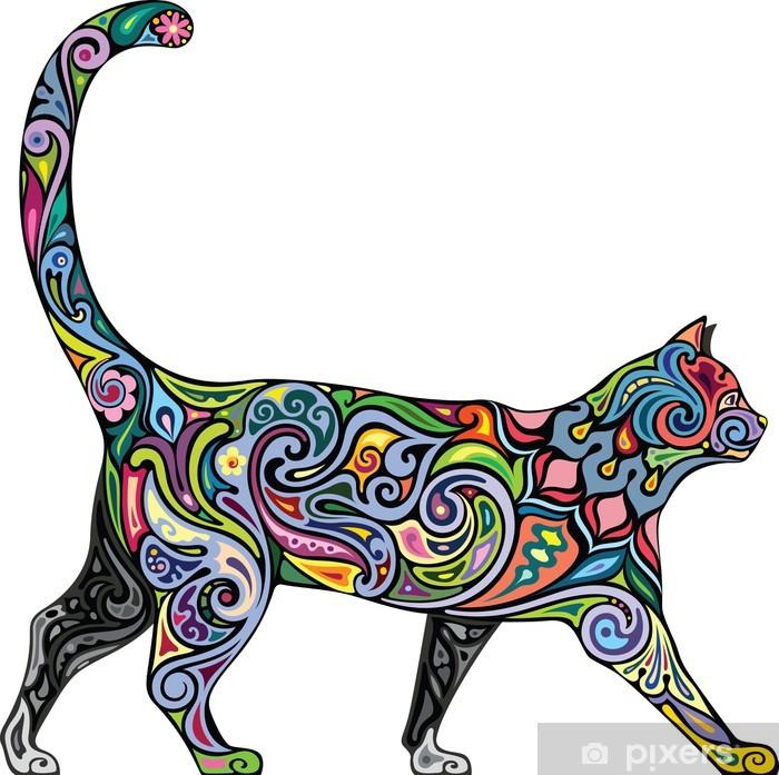 Pixerstick Sticker Vrolijke kat - Zoogdieren