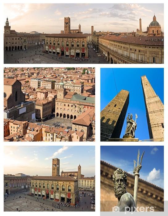 Carta Da Parati Bologna.Carta Da Parati In Vinile Collage Di Bologna Italia