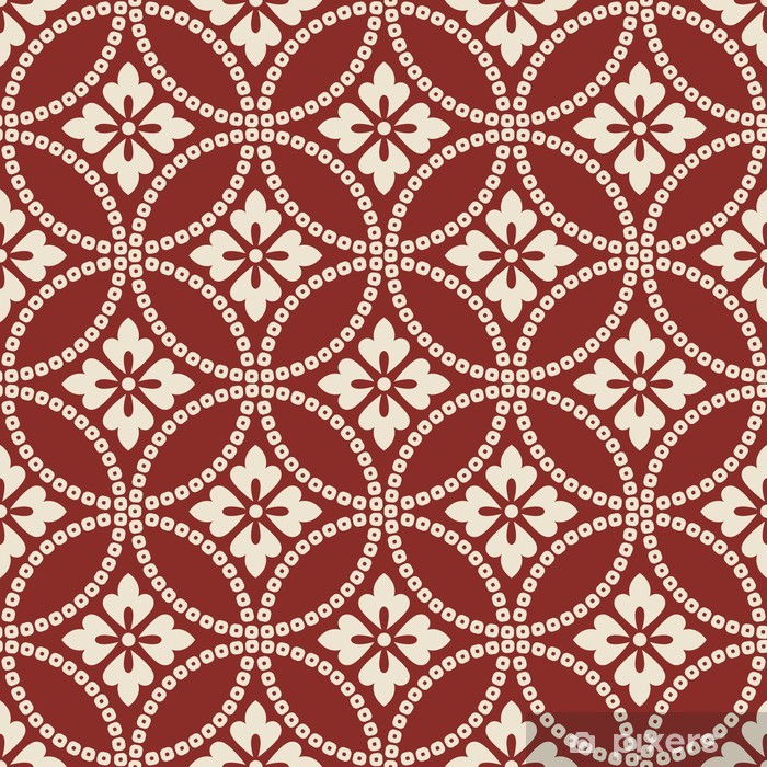 seamless chinese style fabric pattern Vinyl Wall Mural - Backgrounds