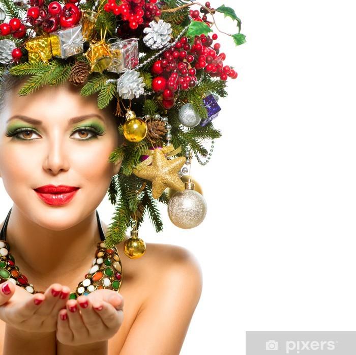 Fototapete Schone Neujahr Urlaub Weihnachtsbaum Frisur Pixers