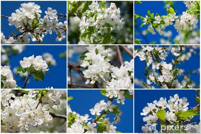 Vinilo Pixerstick Manzana flores - Flores