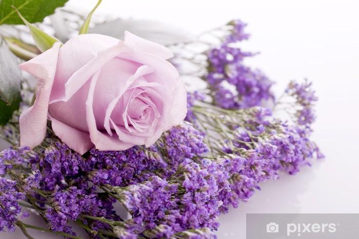Fototapeta winylowa Piękne i różowe lawendy na jasnym tle - Tematy