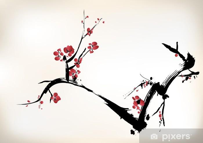 Fototapeta winylowa Kwiat malowanie - Style