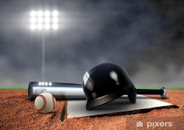 Fototapeta winylowa Baseball Urządzenia w centrum uwagi - Artykuły sportowe