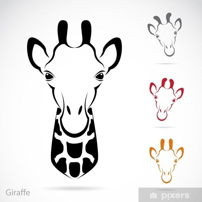 Bir Zürafa Kafası Vektör Görüntü çıkartması Pixerstick Pixers