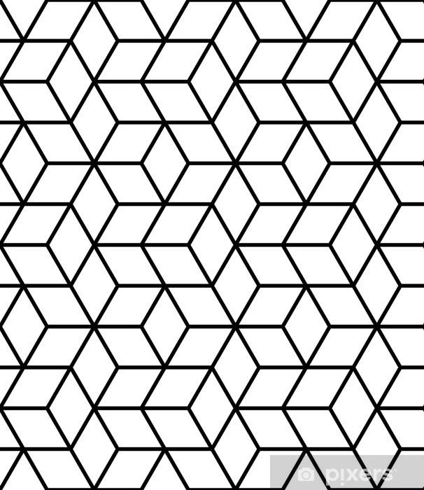 Fototapeta winylowa Bezproblemowa geometryczny wzór z kostki. - Geometria