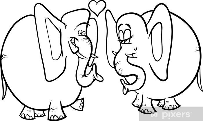 fototapete elefanten in der liebe malvorlagen • pixers