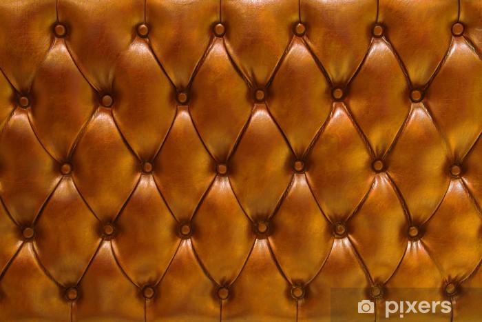 Pixerstick Sticker Achtergrond textuur natuurlijke Leer gevoerd Kleur Oranje - Texturen