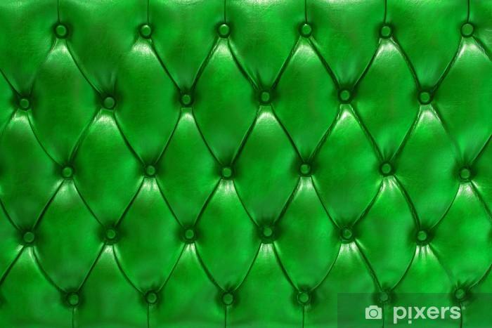 Pixerstick Sticker Achtergrond textuur natuurlijke Leer opgevuld in groene kleur - Texturen