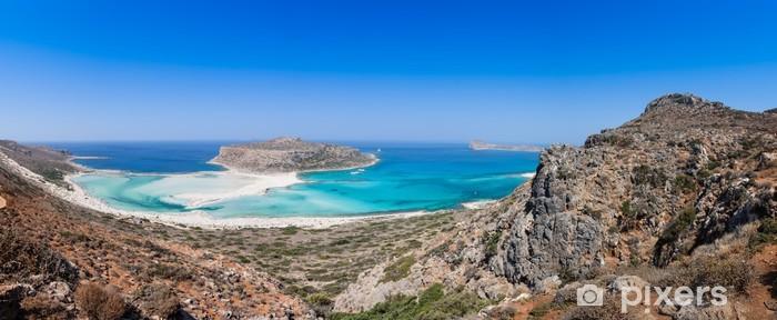 Papier peint vinyle Vue d'ensemble de la plage de Balos, Crète, Grèce - Eau