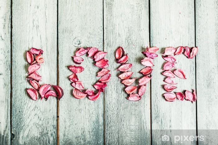 Naklejka Pixerstick Tytuł słowo miłość - Szczęście