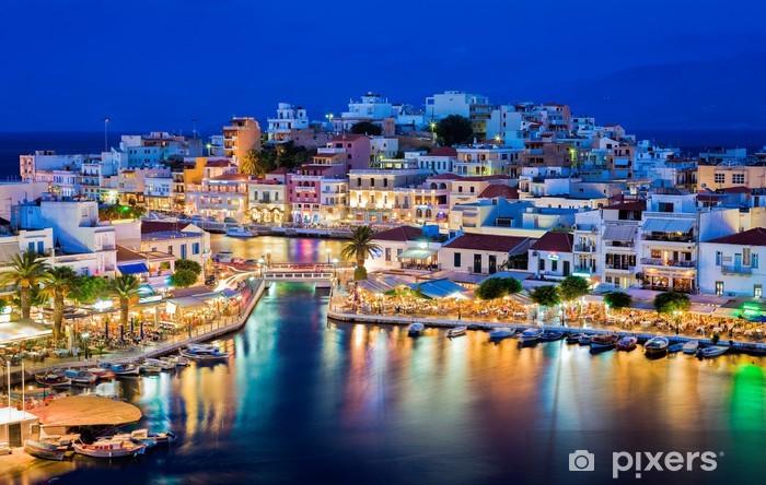 Papier peint vinyle Agios Nikolaos, en Crète, Grèce -