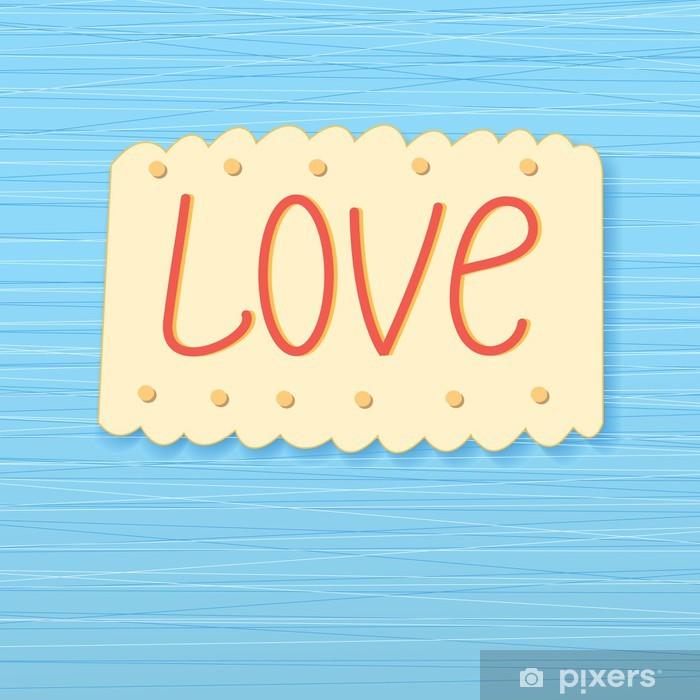 Naklejka Pixerstick Tło ze słowem miłość - Święta międzynarodowe