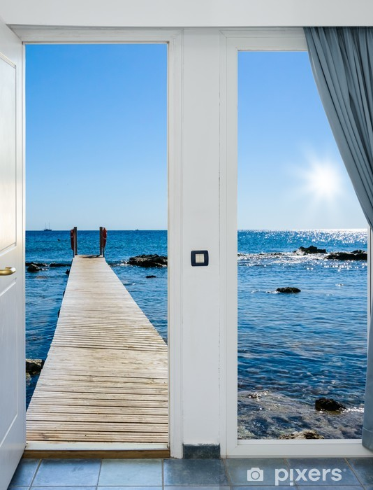 sea view from the pier Vinyl Wall Mural - Themes
