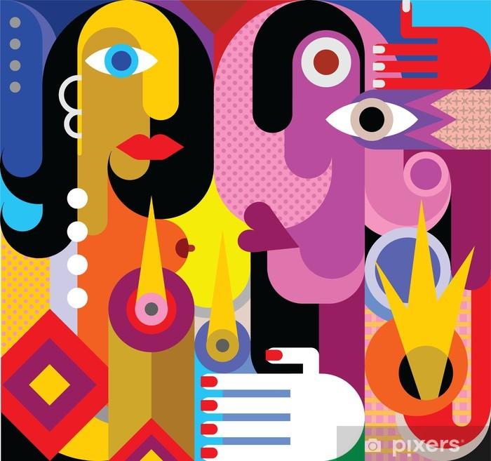 Man and Woman Vinyl Wall Mural - Themes