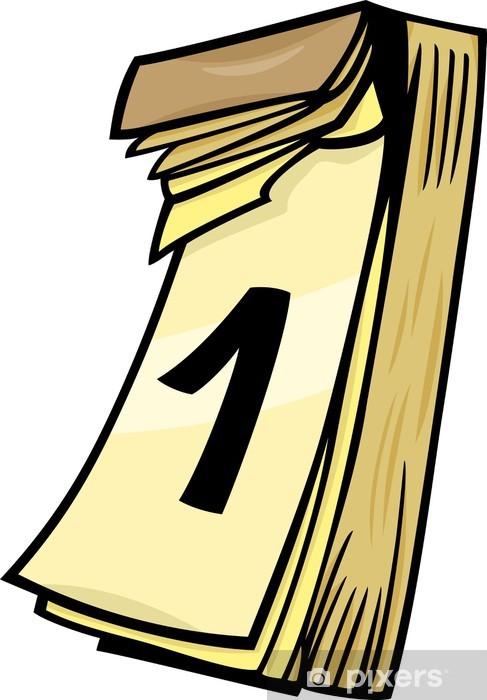 Calendario Dibujo Png.Vinilo Para Nevera Primero En El Calendario De Pared Dibujos Animados Clip Art