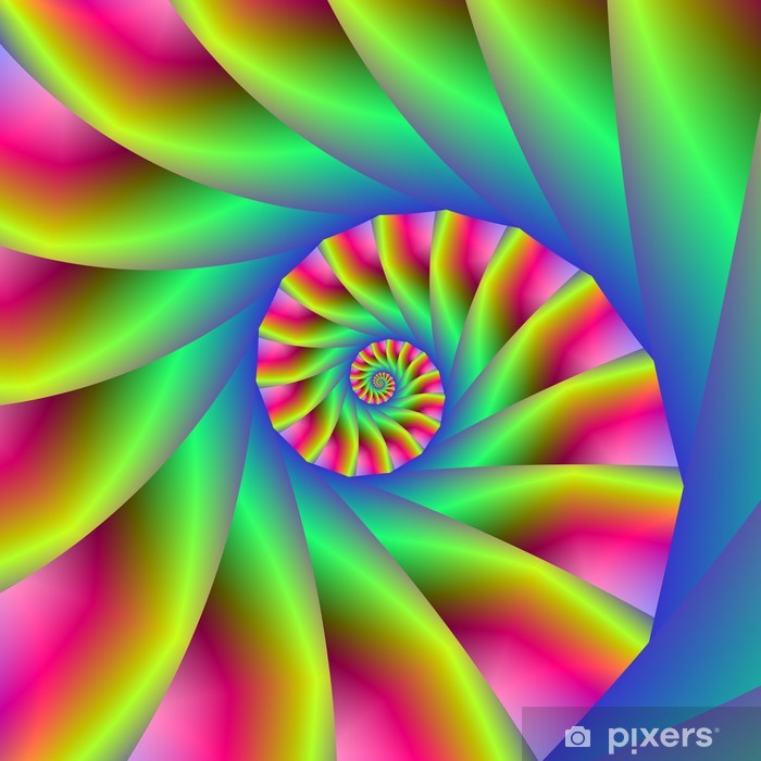 Plakat Schody spiralne psychodeliczne - Abstrakcja