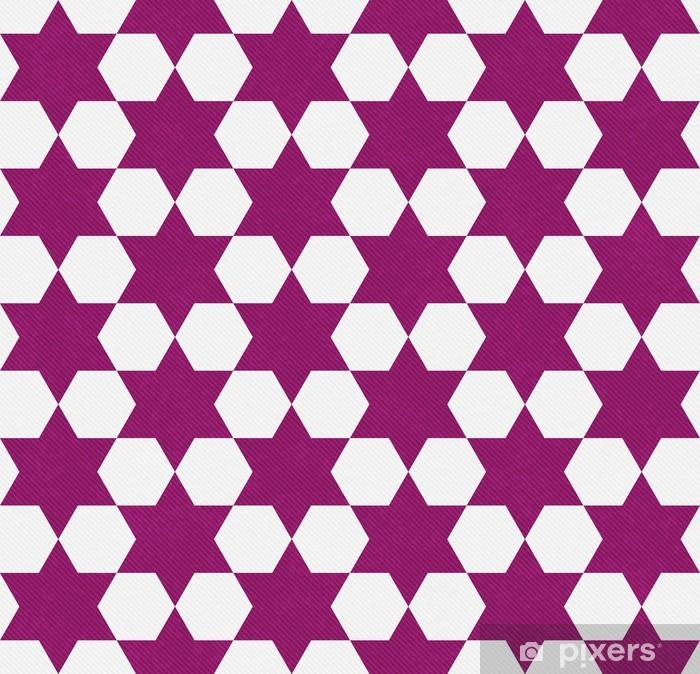 Carta Da Parati Rosa Scuro E Lo Sfondo Bianco Hexagon Patterned