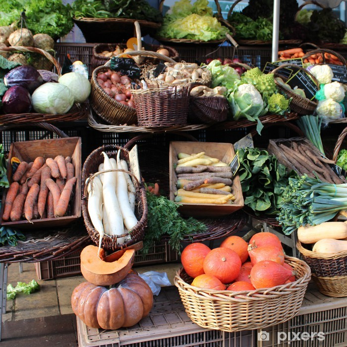 Naklejka Pixerstick Francja - rynek warzyw - Tematy