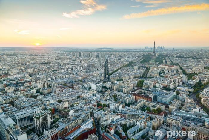 Papier Peint Vue De Paris Au Coucher Du Soleil Pixers Nous