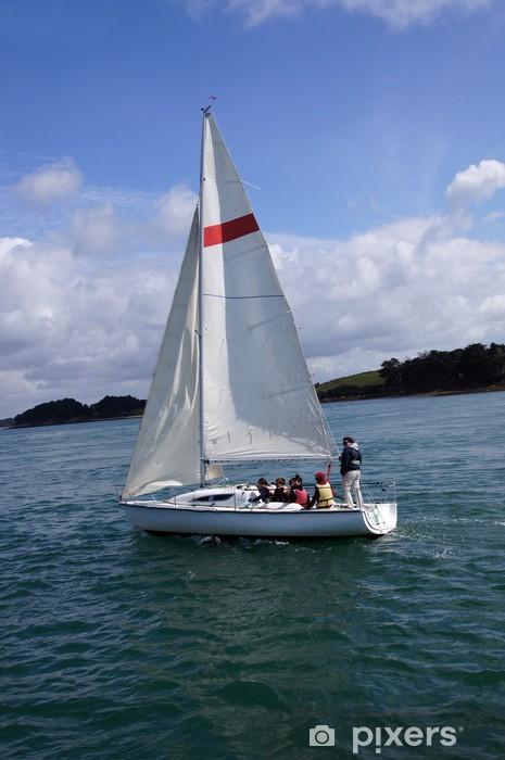 Pixerstick Aufkleber Segeln im Golf von Morbihan - Urlaub