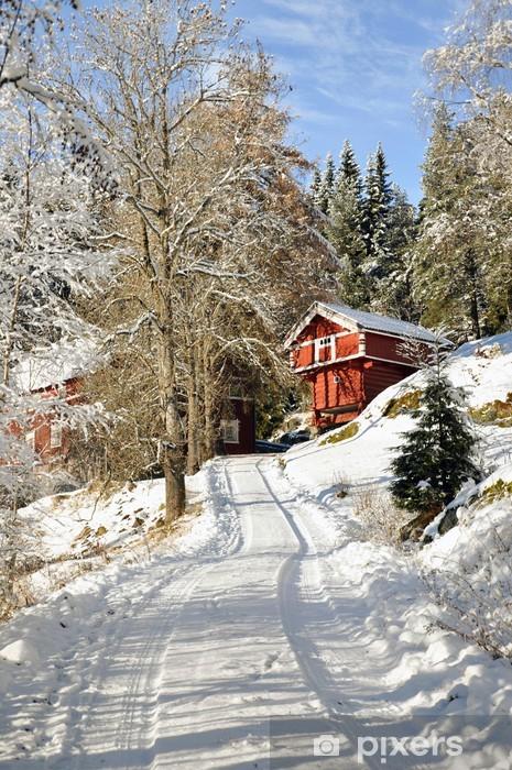 Norveç Karlı Ev Duvar Resmi Pixers Haydi Dünyanızı Değiştirelim