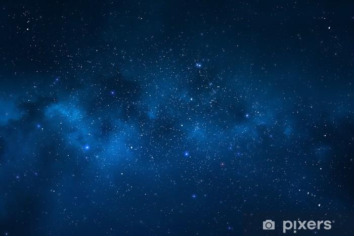 Naklejka Pixerstick Nocne niebo - wszechświat pełen gwiazd, mgławic i galaktyki - Wszechświat