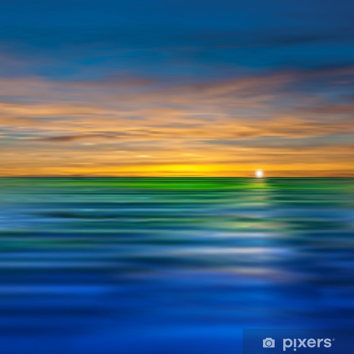 abstract background with clouds and sea sunrise Pixerstick Sticker - Skies