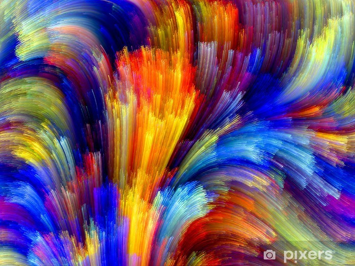 Vinyl Fotobehang Kleurrijke achtergrond - Andere Gevoelens
