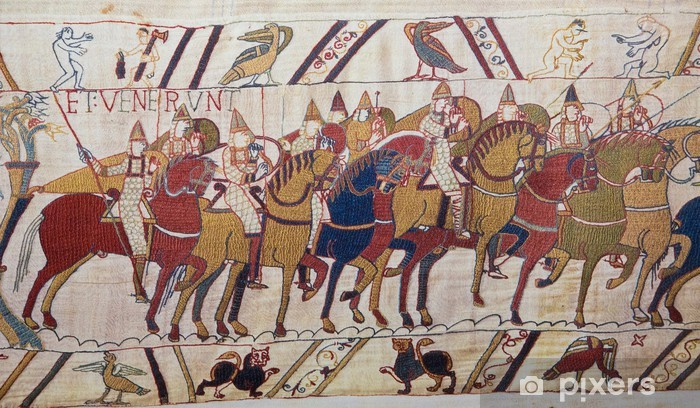 Bayeux tapestry - Norman invasion of England Pixerstick Sticker - Europe