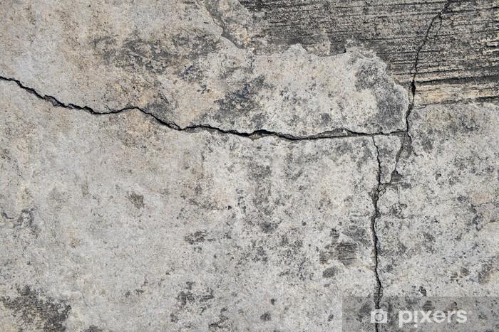 Naklejka Pixerstick Zbliżenie tekstury betonu pęknięty tle. - Tematy