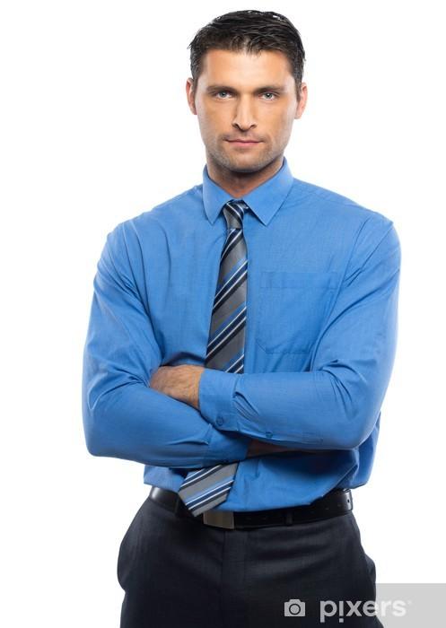 We Mannen Overhemd.Fotobehang Knappe Jonge Man In Blauw Overhemd En Das Pixers We