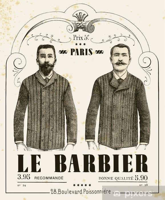 Pixerstick Sticker The Barber - Snor