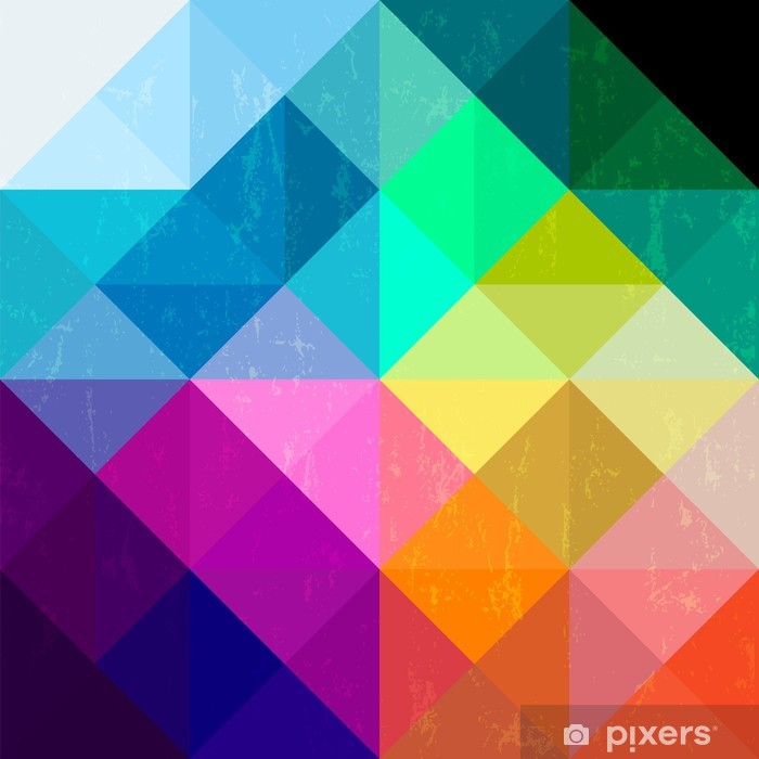 abstract geometric pattern background, with triangles/squares an Vinyl Wall Mural - Themes