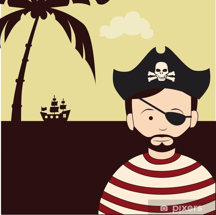 Vinyl-Fototapete Piratenentwurf - Kriminalität und Gewalt