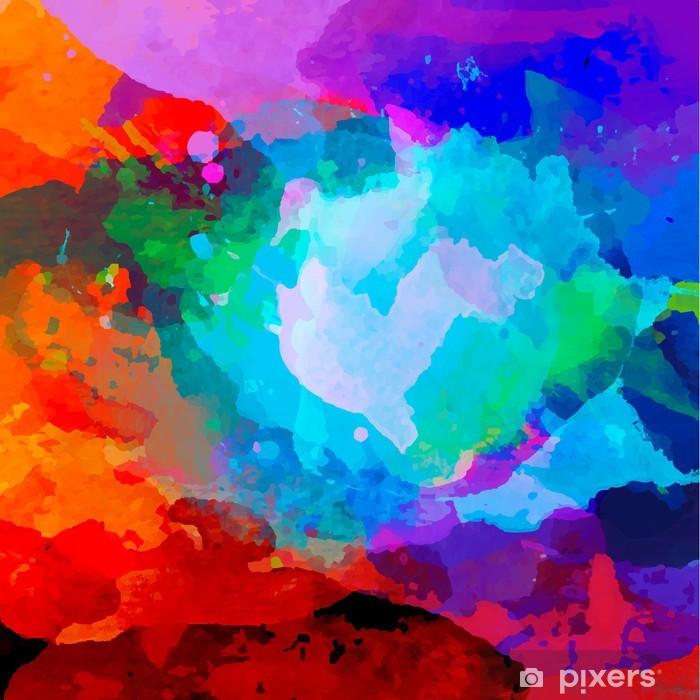 Vinyl Fotobehang Abstract aquarel palet van mix kleuren - Abstractie