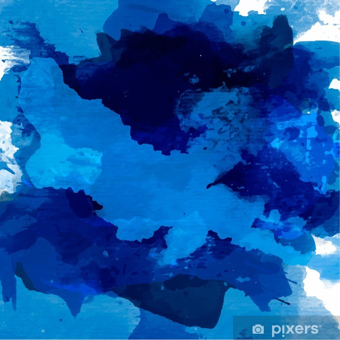 Vinyl Fotobehang Abstract aquarel palet van blauwe kleuren - Thema's