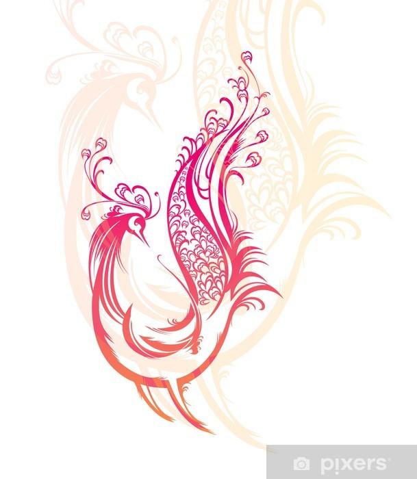 Papier peint vinyle Oiseau fantastique dans le style russe. - Animaux imaginaires