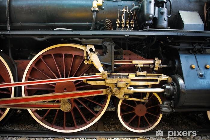 Nálepka Pixerstick Staré parní vlak, kola - Témata