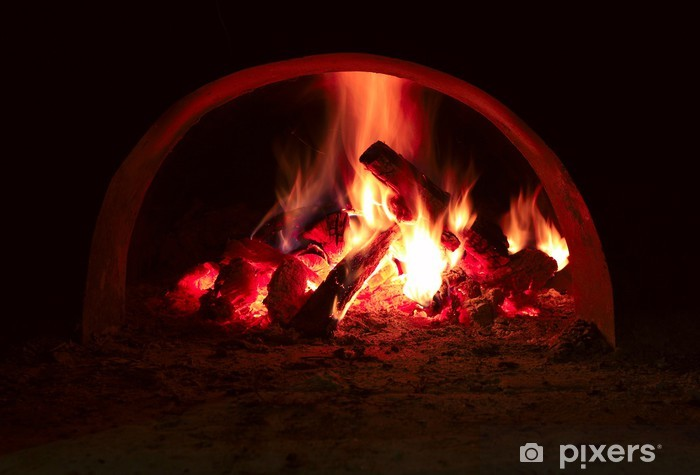 Vinilo Pixerstick Llama de fuego en el horno - Temas