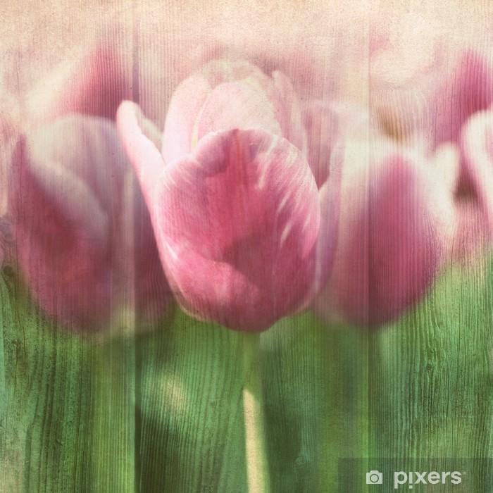 Sticker Pixerstick Tulipes Vintage - Thèmes