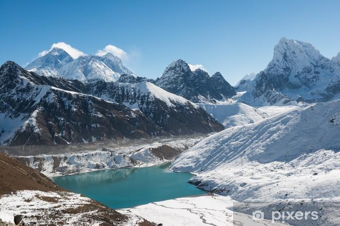 Mount Everest, Lhotse, and Gokyo Lake, Himalaya, Nepal Vinyl Wall Mural - Themes