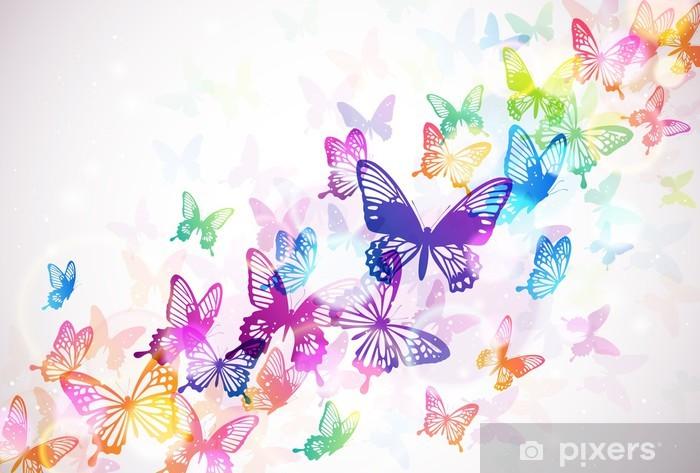 Sticker Pixerstick Papillon 々 -
