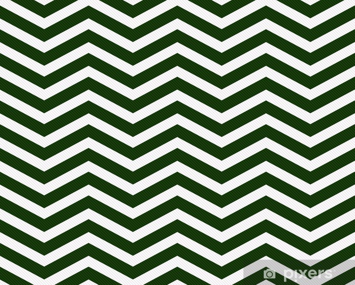 Carta Da Parati Verde Scuro E Sfondo Bianco Zigzag Tessuto Tessuto