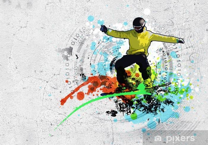 Nálepka Pixerstick Graffiti obrázek - Zimní sporty