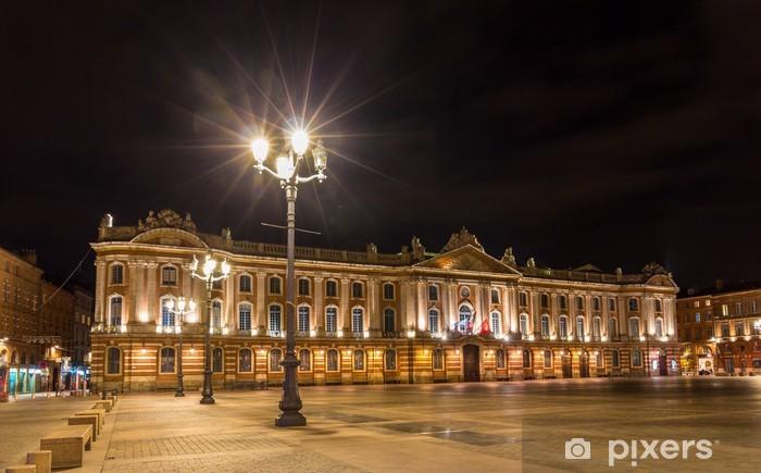 Papier peint vinyle Capitole de Toulouse by night - France, Midi-Pyrénées - Europe
