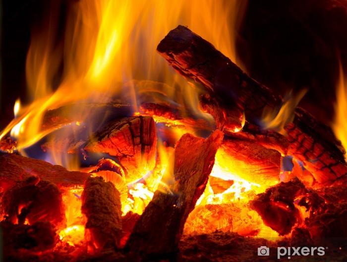 Papier peint vinyle Flamme de feu - Thèmes
