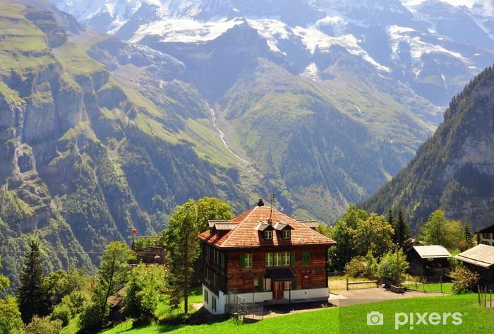 Fototapeta winylowa Schronisko w Szwajcarii - Europa