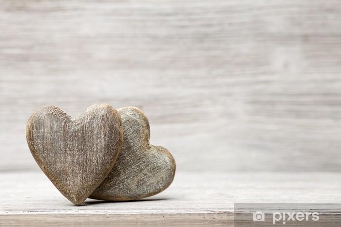 Nálepka Pixerstick Vintage srdce - Mezinárodní svátky